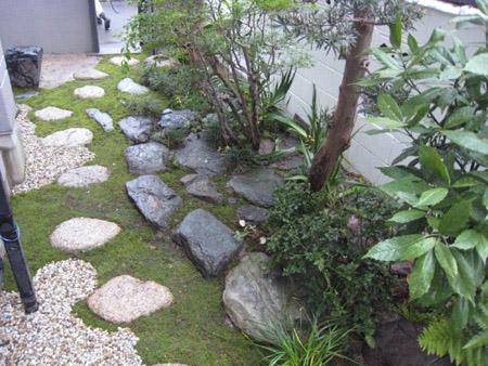 和風のお庭 完成