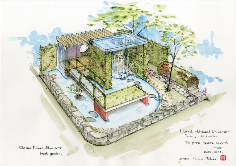 庭デザイン図