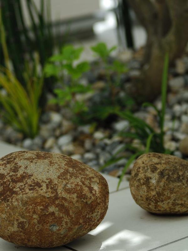 親子石の坪庭
